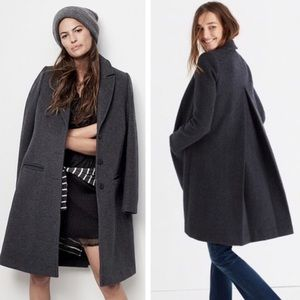 Madewell Teatro Swing Wool Long Coat